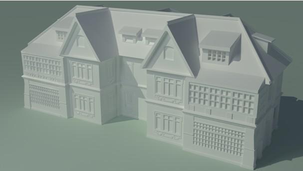 快速成型机成型的建筑样品
